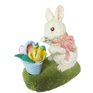 Vintage Easter Bunny With Flower Basket
